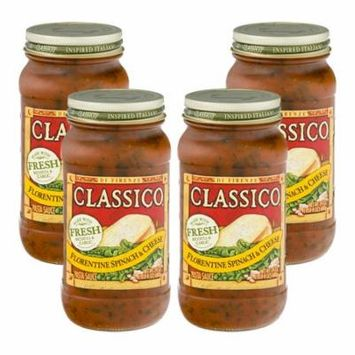 (4 Pack) Classico Florentine Spinach and Cheese Pasta Sauce, 24 oz Jar