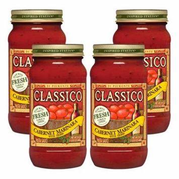 (4 Pack) Classico Cabernet Marinara with Herbs Pasta Sauce, 24 oz Jar
