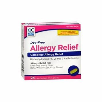 Quality Choice Allergy Relief Compare To Benadryl 24 Tablets Each