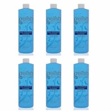 Gelish Nail Soak Off Surface Gel UV Top Coat Cleanser Bottle 480mL (6 Pack)
