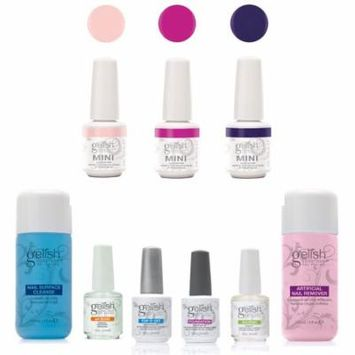 Gelish Basix Kit with Remover & Cleanser and Mini Selfie Collection Polish Set
