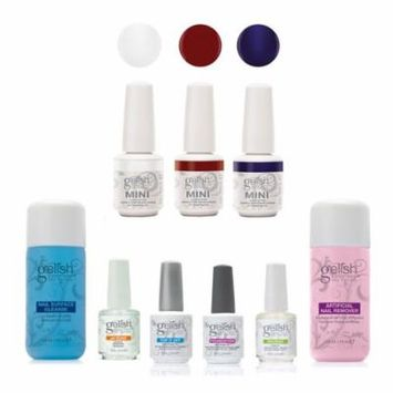 Gelish Full Size Basix Care Kit with Remover & Cleanser and Mini Matadora Polish