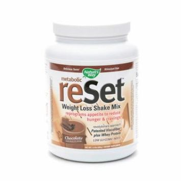 Nature's Way Metabolic Reset Weight Loss Shake Mix Chocolate22.4 oz.(pack of 4)