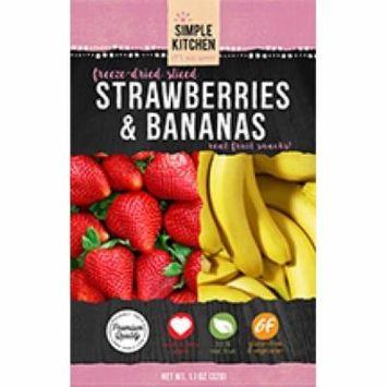 (2 Pack) Wise Company Freeze-Dried Sliced Fruit, Strawberry & Bananas, 4.6 Oz