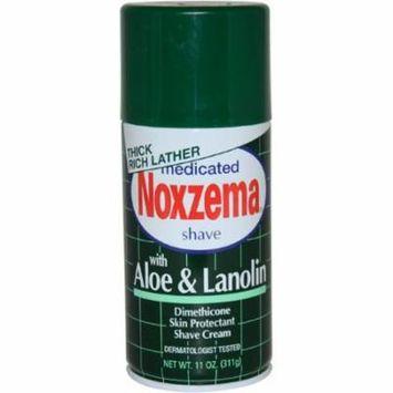 6 Pack Noxzema Shave Cream Aloe and Lanolin 11 oz each