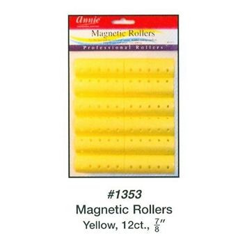 Annie Magnetic Rollers 12 Count Yellow 7/8
