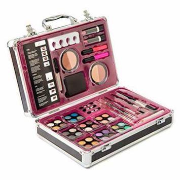 Vokai Makeup Kit Gift Set – 55 Piece - 32 Eye Shadows, 1 Dual-tip Eye Liner Pencil, 1 Blush Duo, 2 Lipsticks, 2 Lip Glosses, Face Powder, Lip Liner Pencil, Case with Carrying Handle