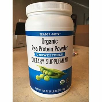 Trader Joe's Organic Pea Protein Powder Unsweetened Dietary Supplement