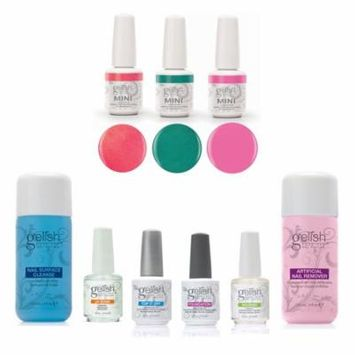 Gelish Full Basix Care Kit with Remover and Cleanser and Street Beat Polish Set