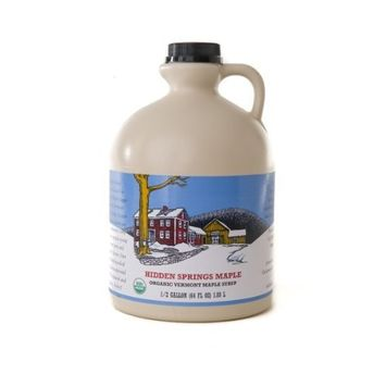 Half Gallon Organic Vermont A Maple Syrup, 64 Ounce