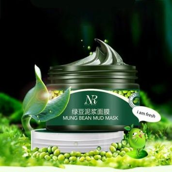 Nico Rose Green Bean Mud Facial Skin Cleansing Mask Natural Essence Shrink Pores Oil Control Acne Treatment Facial Mask