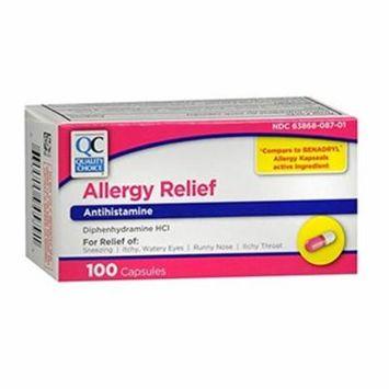Quality Choice Allergy Relief Antihistamine Medicine 100 Capsules Each