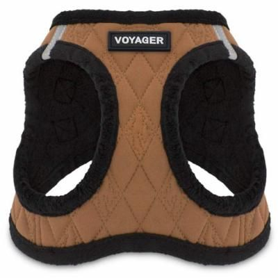 Voyager by Best Pet Supplies - Step-in Plush Dog Harness with Padded Vest, (Geige Plush, Medium)