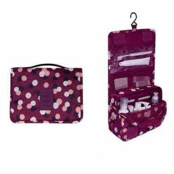 ICOCO Waterproof Polyester Makeup Bag Travel Beauty Hanging Type Cosmetic Bag