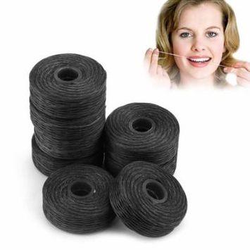8 Rolls 50m Bamboo Charcoal Dental Flosser Cleaning Mint Flavor Toothpick Flosser Dental Cleaning Teeth Floss Stick Black