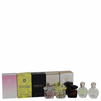 Women Gift Set -- Miniature Collection Includes Yellow Diamond, Bright Crystal, Crystal Noir, Eros EDP and Eros EDT Versace