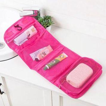 Fold Wash Makeup Bag Hanging Cosmetic Bag Travel Home Wash Bag Tool Storage Bag Makeup Box Beauty
