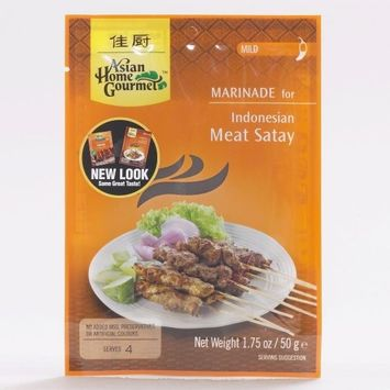 Asian Home Gourmet Indonesian Meat Satay Marinade 1.75 oz.(Pack of 6)