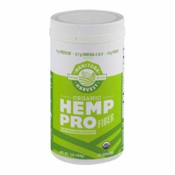 Manitoba Harvest Organic Hemp Pro Fiber Protein Supplement - 16 Oz
