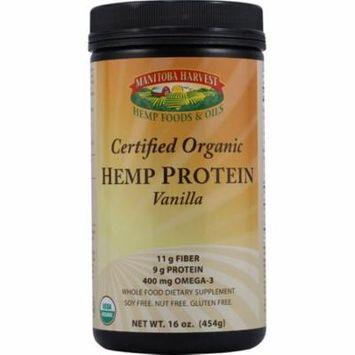 Certified Organic Hemp Protein Powder, Manitoba Harvest, 16 oz Dark Chocolate