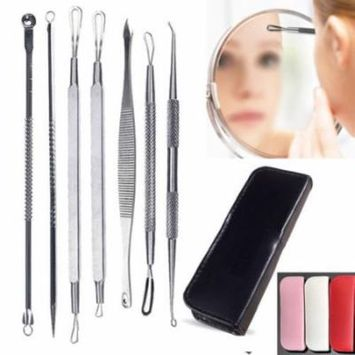 Cleansing Products 7PCS Set Blackhead Extractor Tool Remover Pimple Blemish Comedone Kit