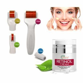 5-IN-1 Derma Roller Skin Care Set 0.5-1-1.5-2 mm + Retinol Day & Night Cream 1.7 fl oz.