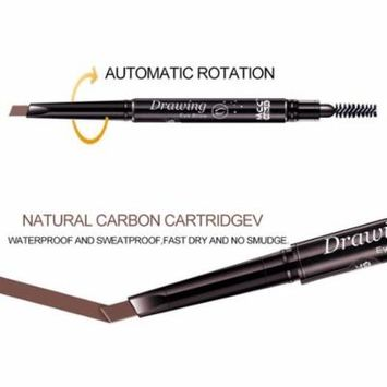 Oie Loves Double Head Automatic Rotation Waterproof Eye Brow Eyeliner Pen Makeup Pencil