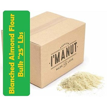 Blanched Almond Flour 25 lbs Unpasteurized Gluten Free Certified Kosher I'm A Nut