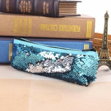 New Sequin Design Women Makeup Cosmetic Bag Travel Beauty Toiletry Bag Organizer