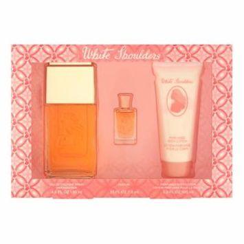White Shoulders by Elizabeth Arden for Women 3 Piece Set Includes: 4.5 oz Eau de Cologne Spray + 3.3 oz Perfumed Body Lotion + 0.25 oz Parfum