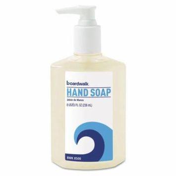 Boardwalk Liquid Hand Soap, Floral, 8oz Pump Bottle, 12/Carton - BWK8500
