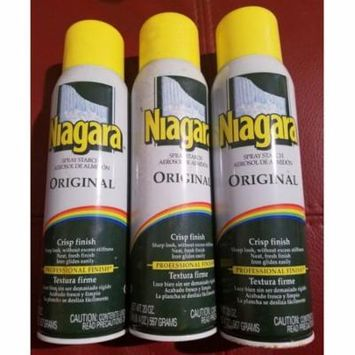 3 Pack 20 oz. Cans Niagara Original Spray Starch Crisp Finish Sharp NEW CAN