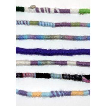 Purple Color Scheme Hippie Hair Extension, Qty: 1 Dreadlocks Accessory, Dread Wrap, Hair Fall, Hair Wrap, Colorful Accessories for Dreads, Braids, Curls