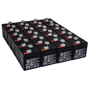 SPS Brand 6V 1 Ah (Terminal T1) Replacement battery for Universal Battery D5696 (24 PACK)