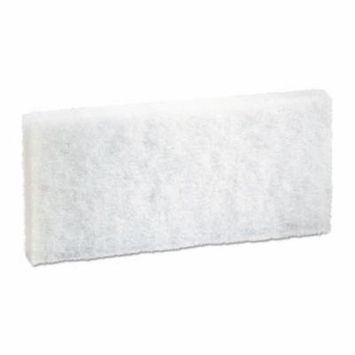 Boardwalk Light Duty Scrub Pads, White, 20 Pads (BWK401)
