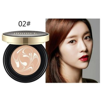 Hunputa Magic BB Cream Air Cushion Compact Korean Cover Foundation SPF Makeup ,Natural - Brightening, Anti-Wrinkle, Pore Minimizing, Hydrating