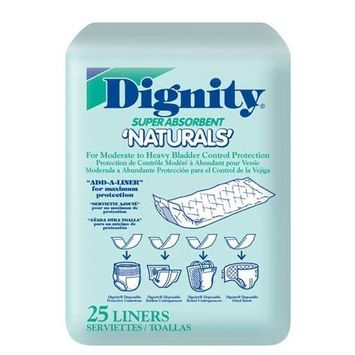 Dignity Naturals Liners (Bag of 25) by Incontinence