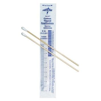 Cotton-Tipped Applicators 6 in./Plastic/Sterile/Qty 2000