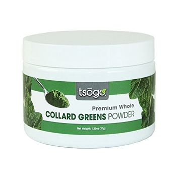 Tsogo Premium Collard Greens Powder, 37g 48 Total Servings, Green Smoothies - No Added Flavors, Fillers or Sugars