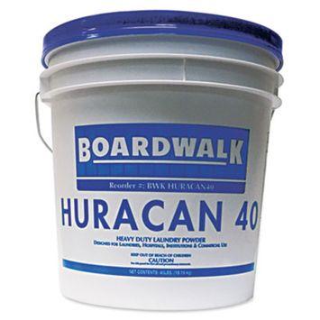 Boardwalk HURACAN40 Low Suds Industrial Powder Laundry Detergent, Fresh Lemon Scent, 40lb Pail [1, 40 lb. Pail]