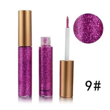 DZT1968 10colors portable Metallic Shiny Smoky Eyes Eyeshadow long-lasting water-tight Glitter Liquid Eyeliner