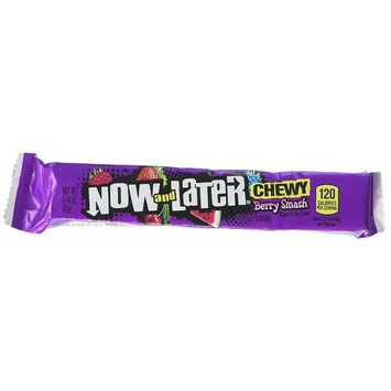 Now & later Chewy Berry Smash Mixed Fruit Chews Candy, Strawberry, Cherry, Watermelon, Blue Raspberry, Wild-Berry, 2.44 Ounce (Pack of 24)