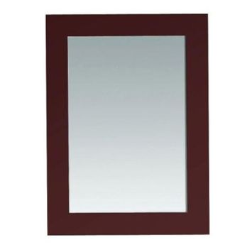 Austen 30 in. L x 22 in. W Wall Mounted Mirror in Dark Cherry