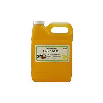 Dr. Adorable - 100% Pure Jojoba Oil Organic Unrefined Cold Pressed -32 oz