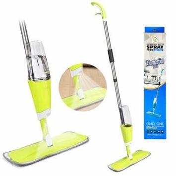 HK 360Degree Microfiber Floor Spray Mop Cleaner Starter Kit w/ Integrated Spray & Refillable 25oz Bottle & Reusable Pad