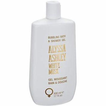6 Pack - Alyssa Ashley White Musk Bath & Shower Gel Doccia 17.0 oz