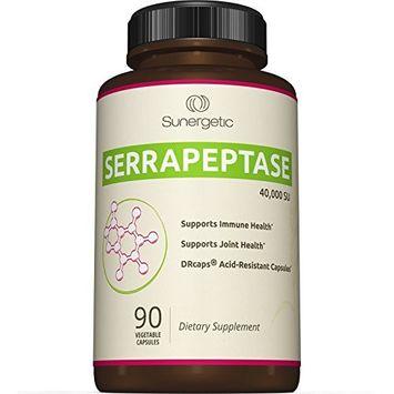 Premium Serrapeptase Enzyme Supplement – Helps Support Sinus Health – Powerful Serrapeptase Enzymes Formula – 40,000 SU Per Capsule- 90 Enteric Coated Serrapeptase Capsules