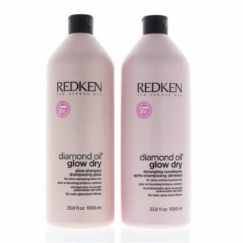Redken-Diamond Oil Glow Dry Shampoo And Conditioner 33.8 Oz/1000 Ml Duo