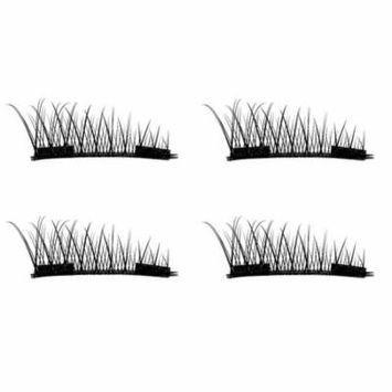 4PCS/2 Pairs Natural Thick Eye Lashes Glue-free 3D Magnetic False Eyelashes,Double Magnet