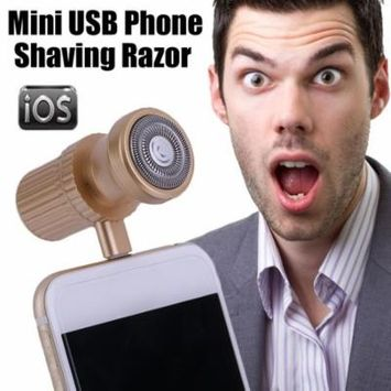 Compact Mini USB Phone Shaving Razor Outdoor Travel Hair Beard Razor For Apple